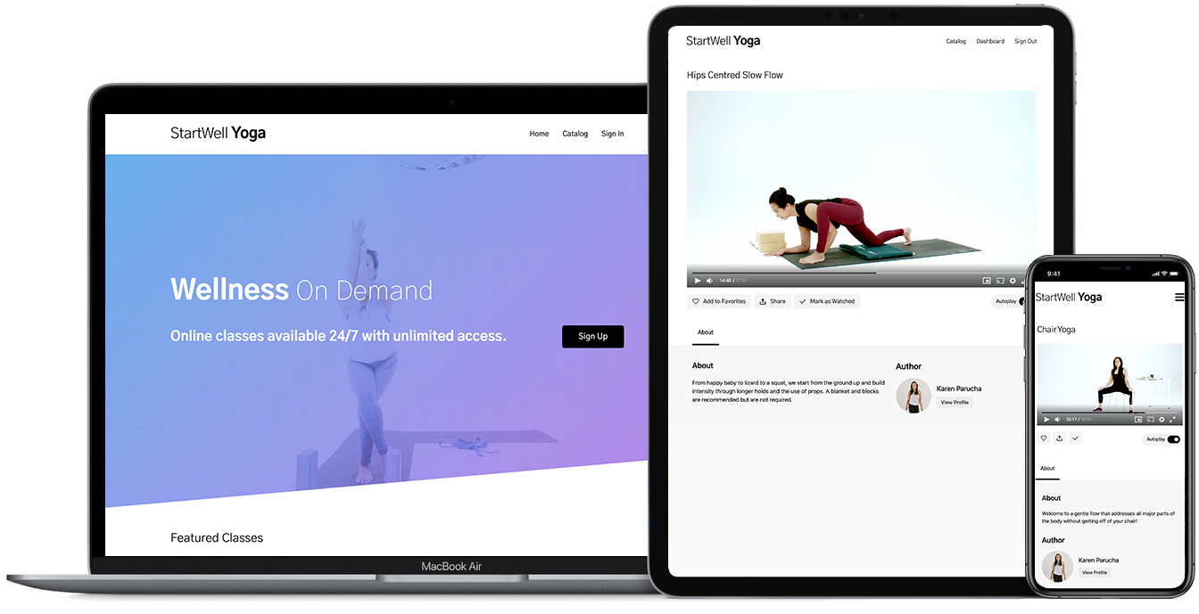 Yoga by StartWell works on all devices